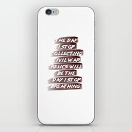 Civil War Collection Shirt Relics Collecting iPhone Skin