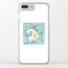 Happy Fish! 7 Clear iPhone Case