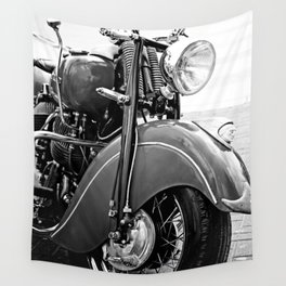 Motorcycle-B&W Wall Tapestry