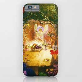 The Fairies Banquet Magical Realism Landscape by John Anster Fitzgerald iPhone Case