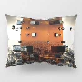 The Fractals of the Future 3D Modeling Pillow Sham