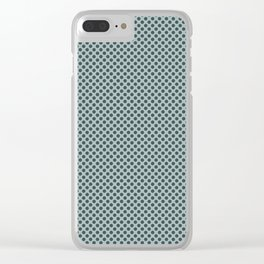 PPG Glidden Trending Colors of 2019 Night Watch PPG1145-7 Polka Dots on Blue Willow Green PPG1145-4 Clear iPhone Case