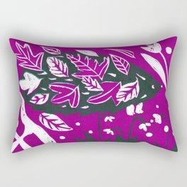 Hedgehog - Fuchsia Palette Rectangular Pillow
