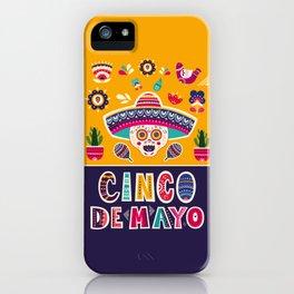 Cinco de Mayo – Scull iPhone Case