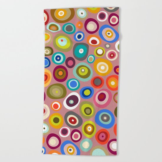 freckle spot blush Beach Towel