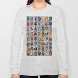 Psychedelic  Owls Long Sleeve T-shirt
