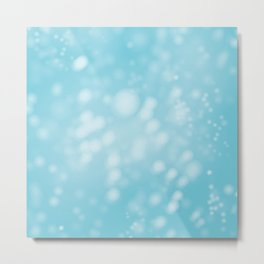 Turquoise Ombre Metal Print