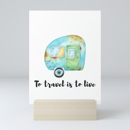 Sweet Retro RV with Quote Mini Art Print
