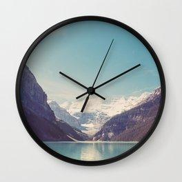 Lake Louise - Mountain Landscape, Nature Photography Wall Clock