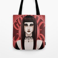 gothic Tote Bags featuring Gothic by DarkElve