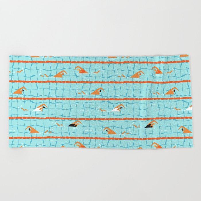 Swimming pool Beach Towel by tasiania