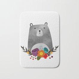 Bear Print Bath Mat