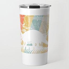 Retro Brontosaurus design Gift Funny Vintage Dinosaur graphic Travel Mug