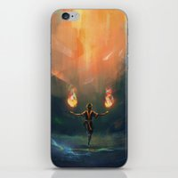 zuko iPhone & iPod Skins featuring Firebender by AngHuiQing