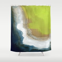 Surf Abstraction Shower Curtain