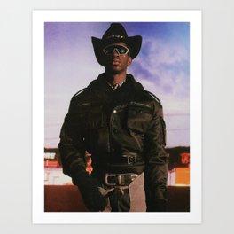Cowboy Lil Nas Art Print