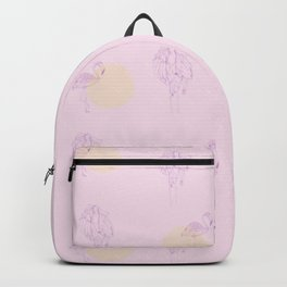 In pink Backpack