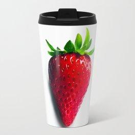 Luscious Red Strawberry Close-up Travel Mug