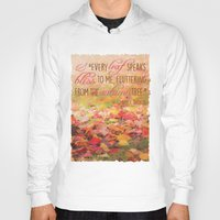 poem Hoodies featuring Autumn Leaves Poem by Graphic Tabby