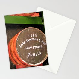 Jameson whiskey - Jameson Irish whiskey wooden barrel face photography Stationery Cards