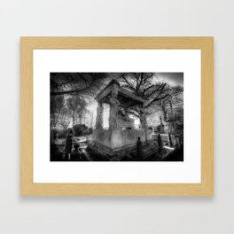 Kensal Green Cemetery London Framed Art Print