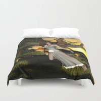 elf Duvet Covers featuring Beautiful  elf by nicky2342