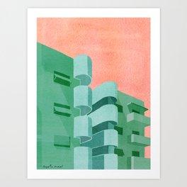 Green Bauhaus Art Print
