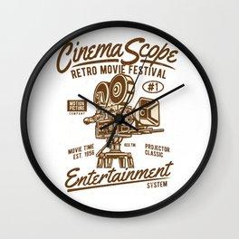 Cinema Scope - Retro Movie Fistival Wall Clock