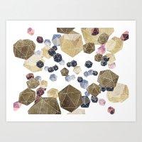 Marble game Art Print