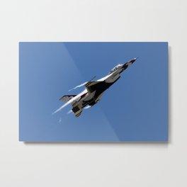 US Air Force Thunderbird F-16 Afterburner Climb Metal Print