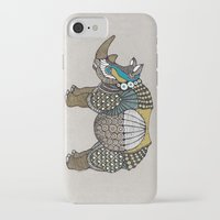 rhino iPhone & iPod Cases featuring Rhino by farah allegue