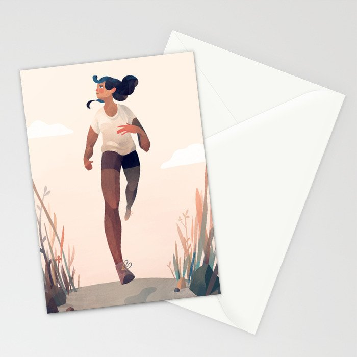 Runner Girl Stationery Cards