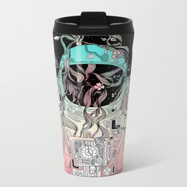 Life is Invading My Space Metal Travel Mug