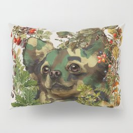Camo Chihuahua Forest Adventure Pillow Sham