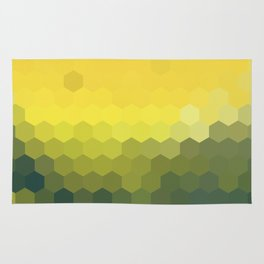 YELLOW AND KHAKI HONEY Rug