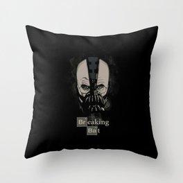 Breaking Bat Throw Pillow