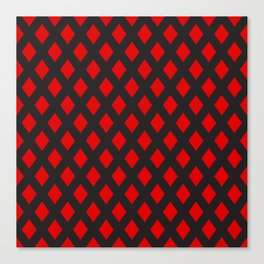 Red rombs pattern Canvas Print