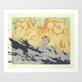 Salvador Dali - lithograph Salvador Dali (1904-1989) - Costa Brava Lithograph (1971) - Surrealism - Art Print