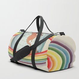 Psycho-harmonial philosophy - Peter Pearson - 1910  Rainbow Saturn Rings Around Earth Duffle Bag