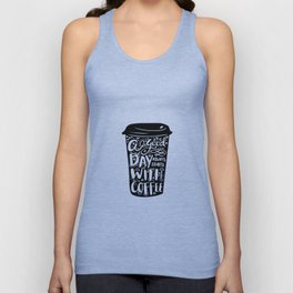 A good day always start with coffee Unisex Tank Top