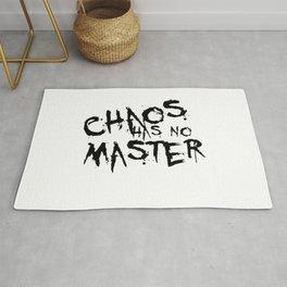 Chaos Has No Master Black Graffiti Text Rug