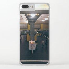 Berlin U-bahn Hermannplatz Clear iPhone Case