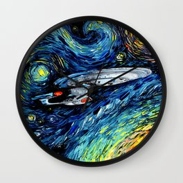 van Gogh Never Boldly Went Wall Clock