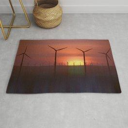 Wind Farms (Digital Art) Rug
