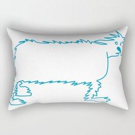 Ice Dog Rectangular Pillow