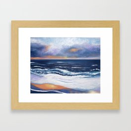 An Evening by the Sea Framed Art Print