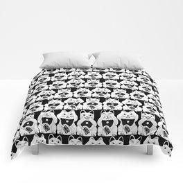 Three Smart Cats Comforters