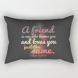 Friendship | Elbert Hubbard Rectangular Pillow