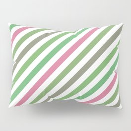 Pink Roses in Anzures 5  Stripes 1B Pillow Sham