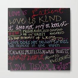 Love is Kind (multicolored) Metal Print